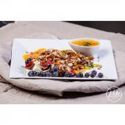 Autour des légumes et céréales de saison. plat végétarien