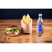 Menu burger boeuf 150g, frites, boisson
