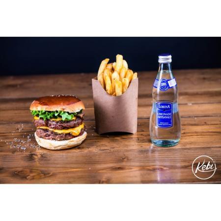 Menu Burger Boeuf Monstrueux, Frites, Boisson