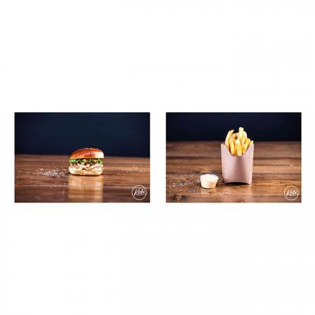Menu Burger Poulet 140g, Frites, Boisson