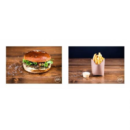 Menu Burger Végétarien, Frites, Boisson