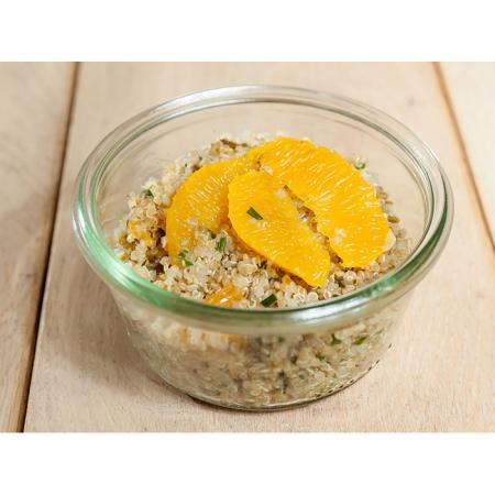 Salade quinoa menthe agrumes